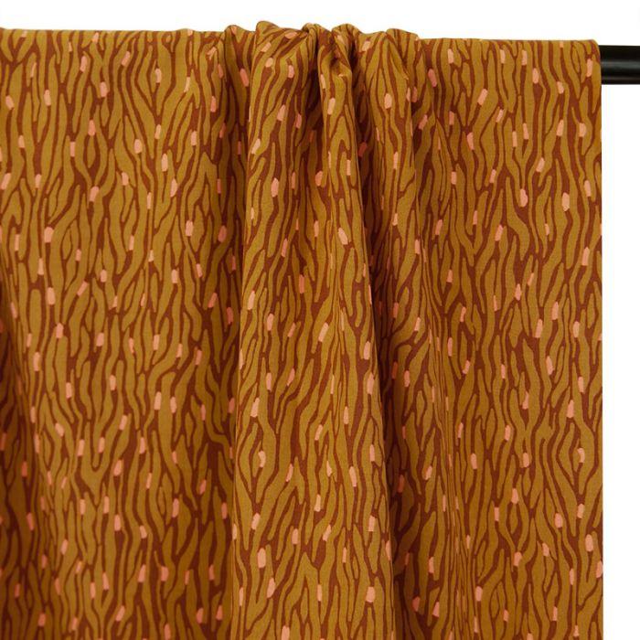 Tissu viscose zebra - ocre x 10 cm