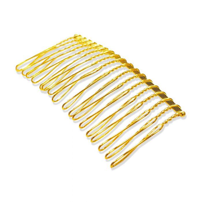 Barrette peigne à cheveux doré 70 mm x1