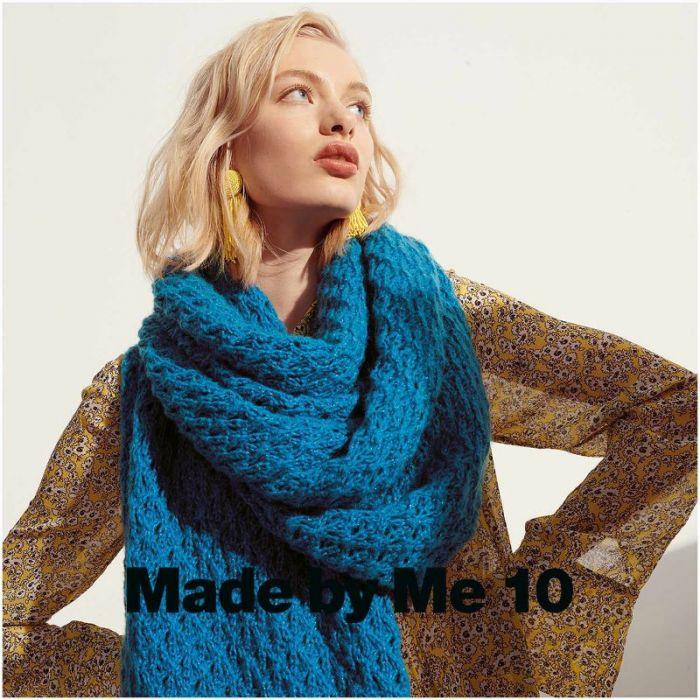 Kit tricot châle Fluffily en coton - Rico design