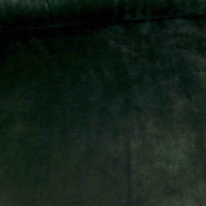 Tissu jersey velours stretch - vert foncé x 10 cm
