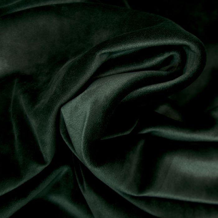 Tissu velours stretch - vert foncé x 10 cm