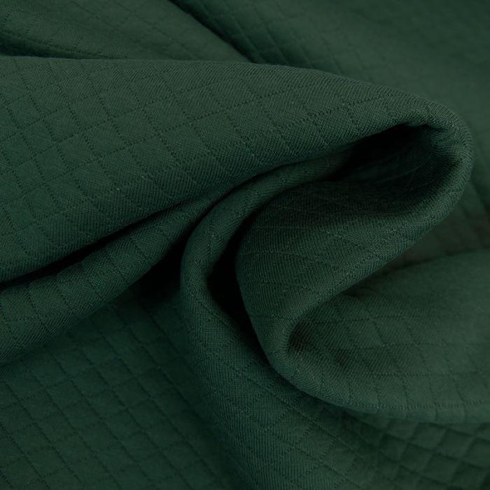 Jersey matelassé coton - vert foncé x 10 cm