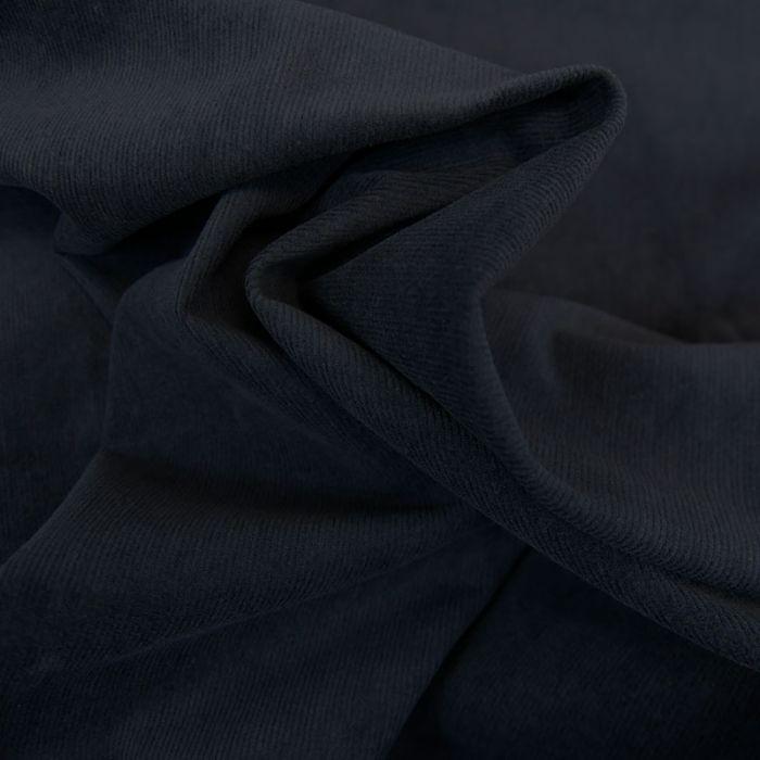 Tissu velours milleraies stretch - bleu marine x 10 cm
