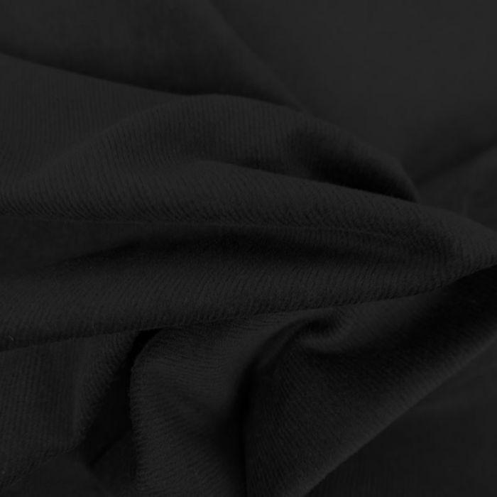 Tissu velours milleraies stretch  - noir x 10 cm