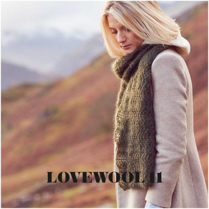 Kit tricot écharpe ajouré en mohair et soie - Rico design