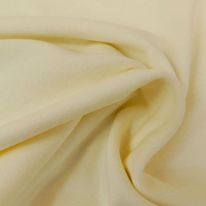 Tissu bord-côte bio uni tubulaire - écru x 10 cm