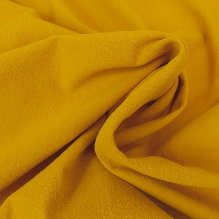 Tissu coton lavé uni - moutarde x 10 cm