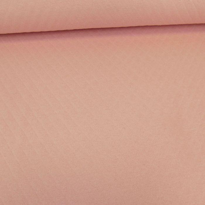 Jersey matelassé coton - rose x 10 cm