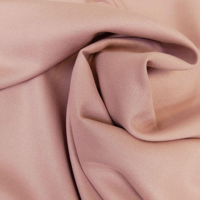 Tissu viscose twill fluide - rose x 10 cm