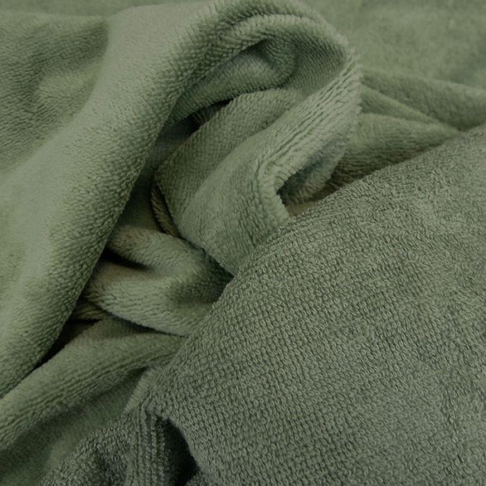 Tissu micro éponge bambou Oeko-Tex - romarin x 10 cm