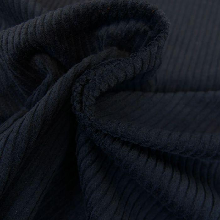 Tissu velours côtelé - bleu marine x 10 cm