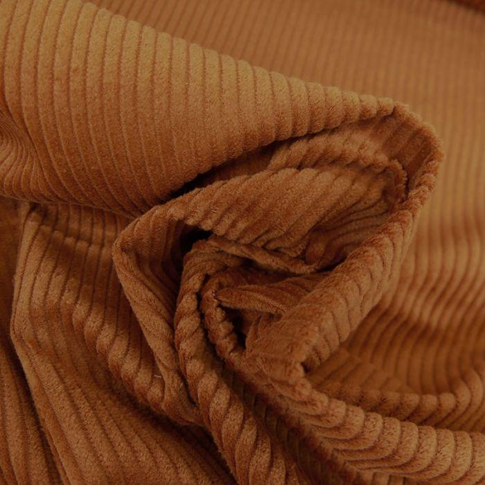 Tissu velours côtelé - camel x 10 cm
