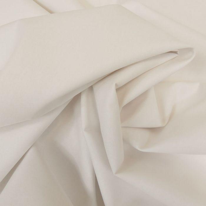 Tissu coton popeline bio - blanc x 10 cm