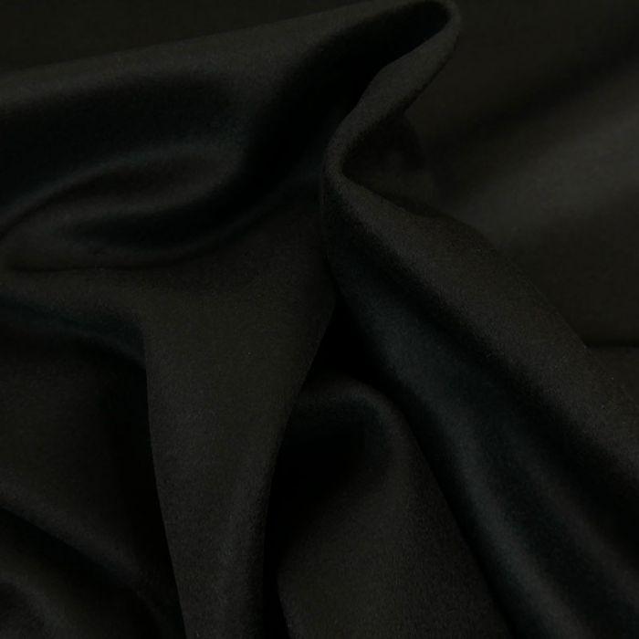 Tissu lainage cachemire - noir x 10 cm