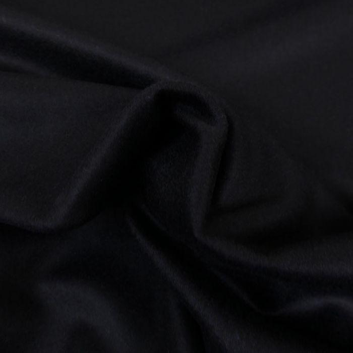 Tissu lainage cachemire - bleu marine x 10 cm