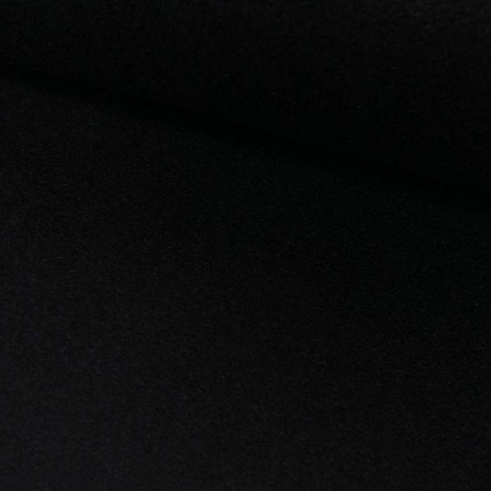 Tissu drap de laine haute couture - bleu nuit x 10 cm