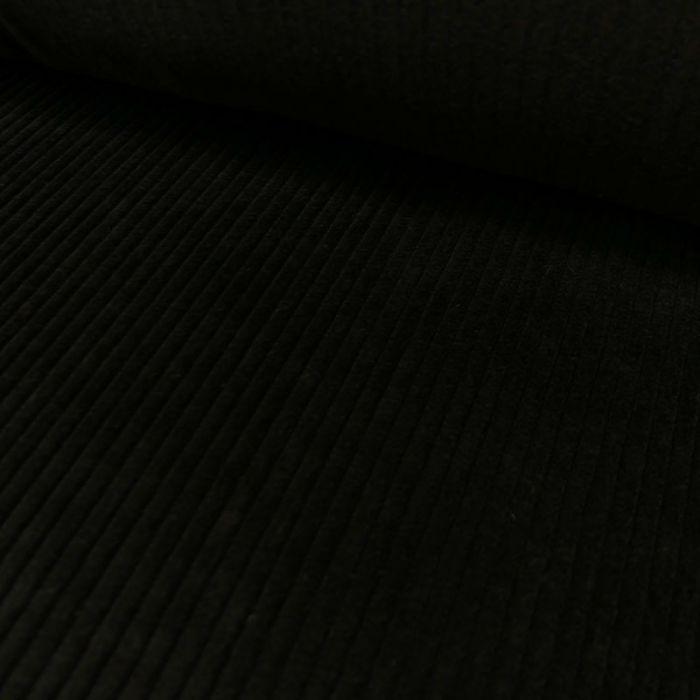 Tissu velours côtelé - noir x 10 cm