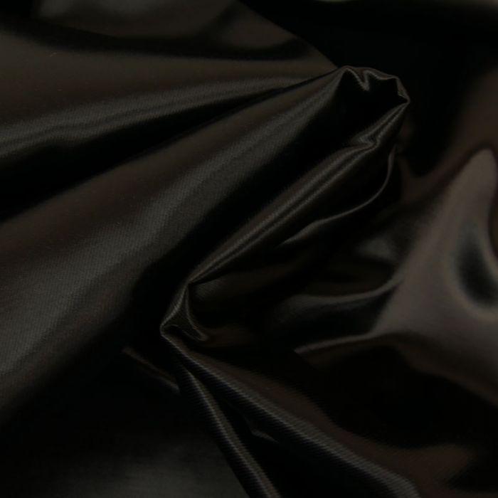 Tissu  cupro uni - noir x 10 cm