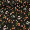 Tissu coton champs fleurs noir - Poppy x 10 cm