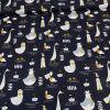 Tissu coton oiseaux marins bleu marine - Poppy x 10 cm
