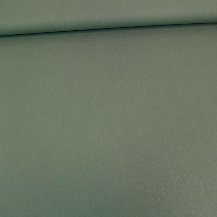 Tissu coton popeline bio - vert x 10 cm