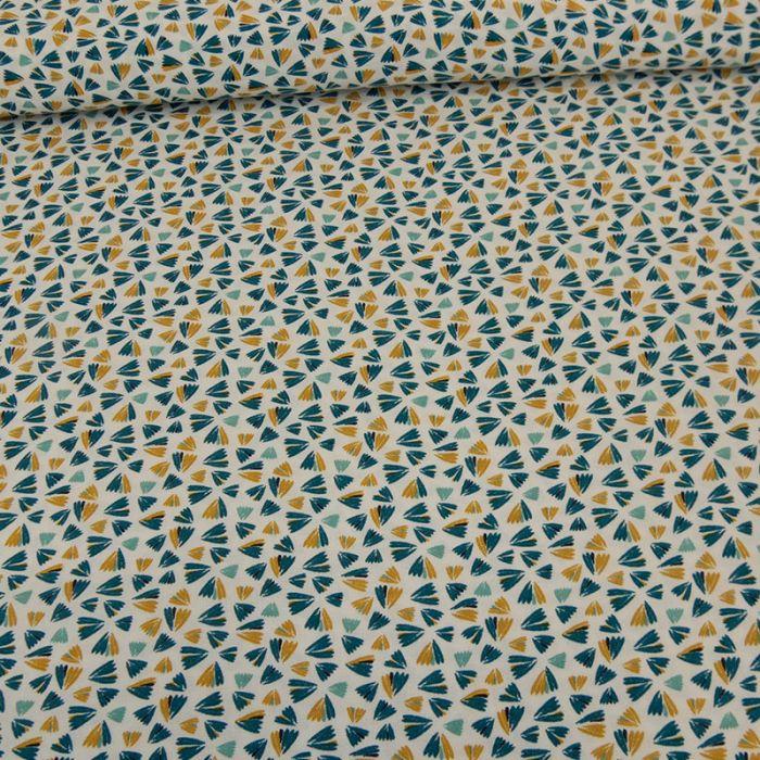 Tissu viscose pétales  - canard x 10 cm