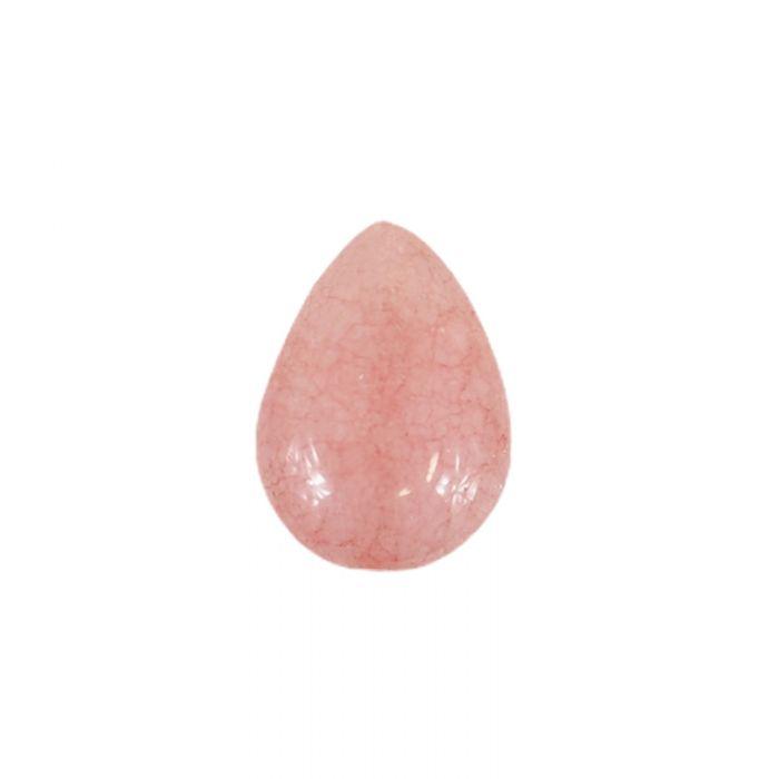 Perle goutte agate teintée 18 x 13 mm x1