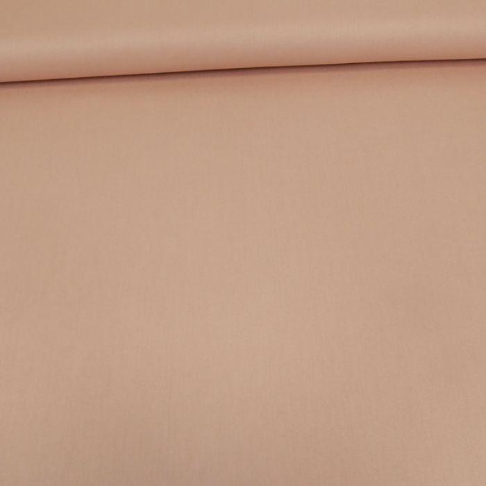 Tissu coton popeline bio - rose poudre x 10 cm