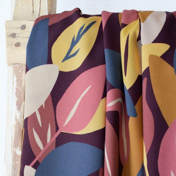 Tissu viscose Sous Bois blush - Cousette x 10 cm