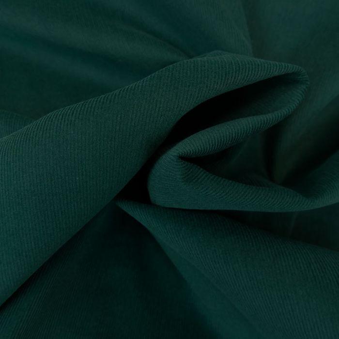 Tissu velours milleraies - vert x 10 cm