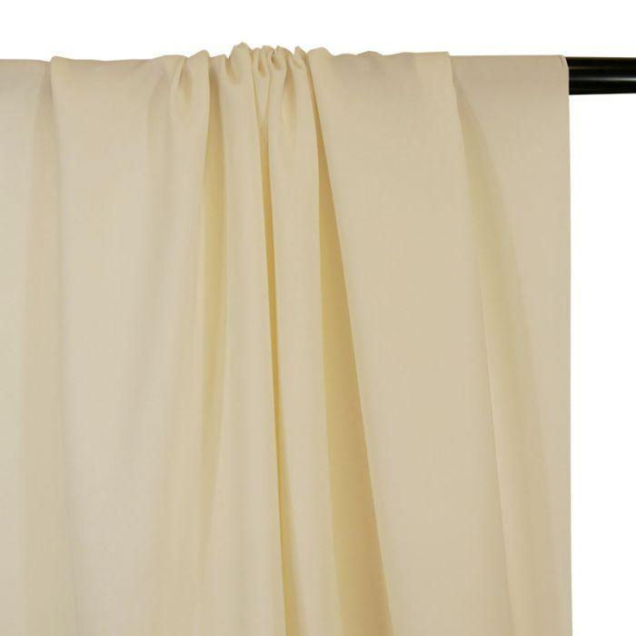 Tissu soie stretch haute couture - blanc x 10 cm