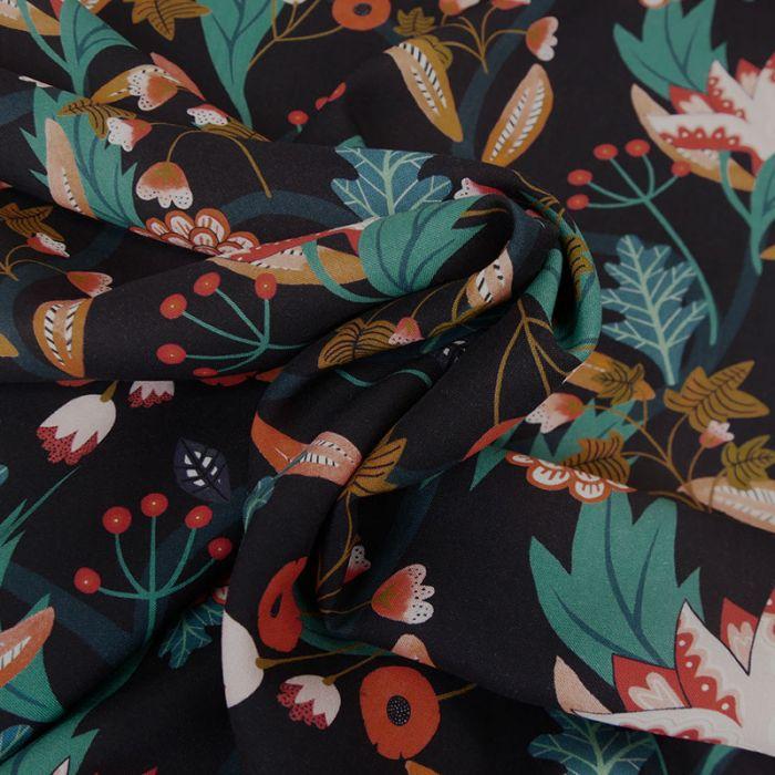 Tissu rayonne Gardenia marine - Dashwood x 10 cm