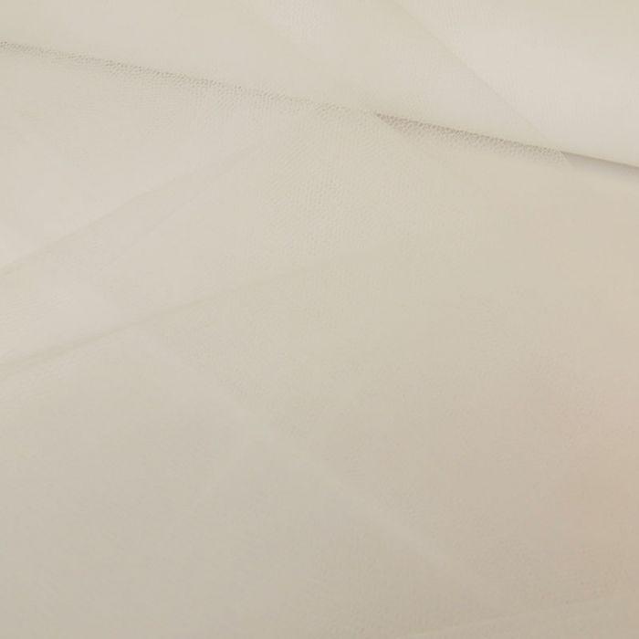 Tissu tulle souple - blanc x 10 cm