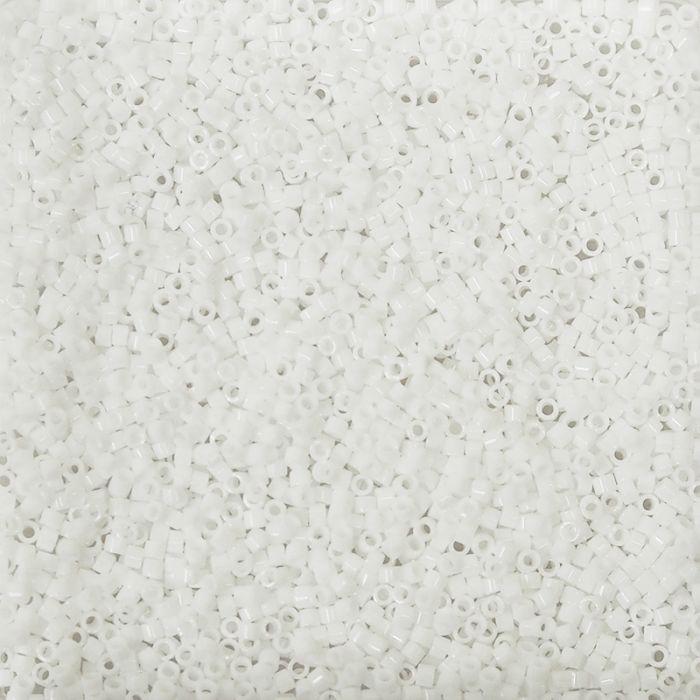 Miyuki Delicas 11/0 - Opaque Chalk White - DB200 x6g