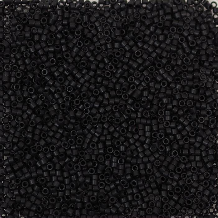 Miyuki Delicas 11/0 - Matte Black - DB310 x6g