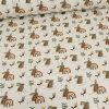 Tissu jersey coton oeko-tex lapins - écru x 10cm