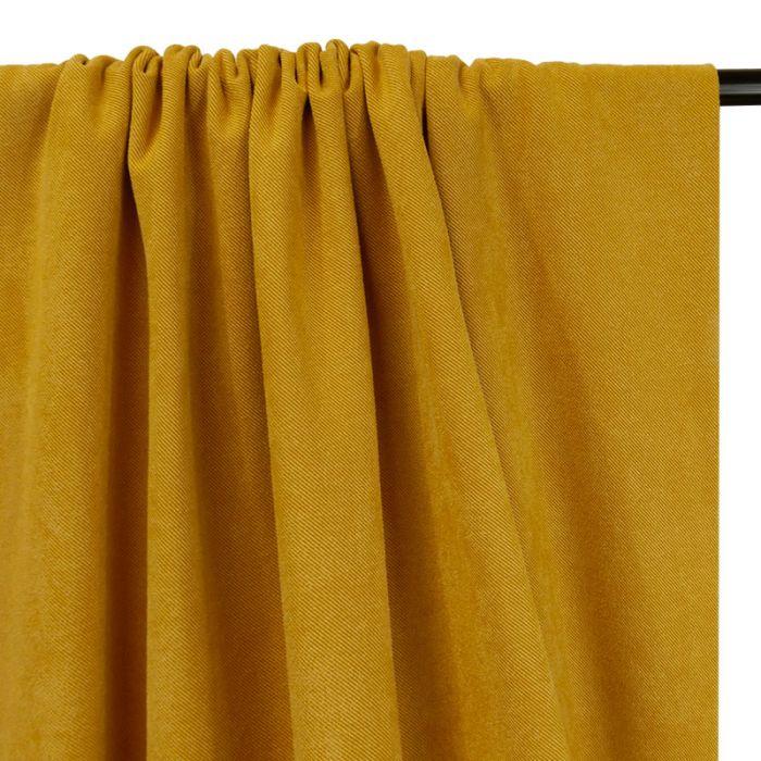 Tissu suédine twill - moutarde x 10 cm