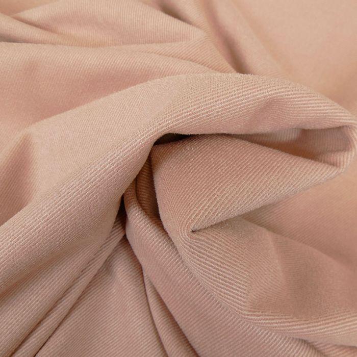 Tissu suédine twill - nude x 10 cm