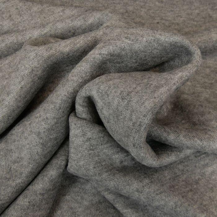 Tissu jersey maille - gris chiné x 10 cm