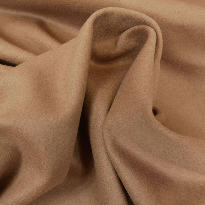 Tissu laine cachemire camel