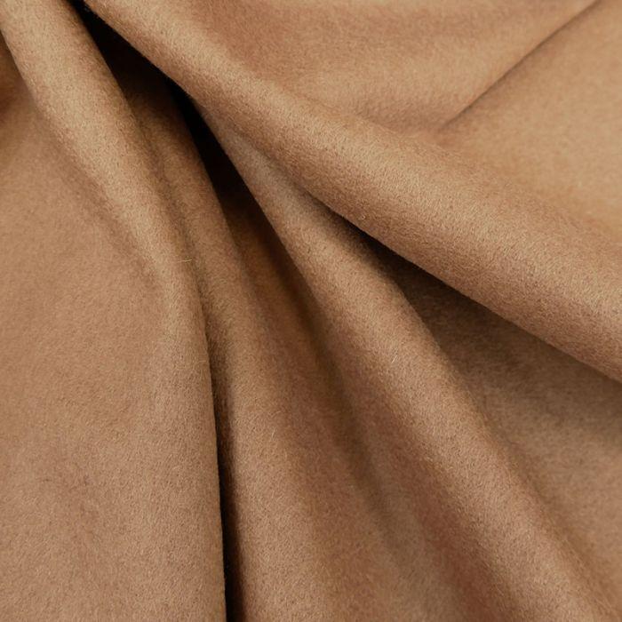 Tissu laine cachemire camel x 10 cm