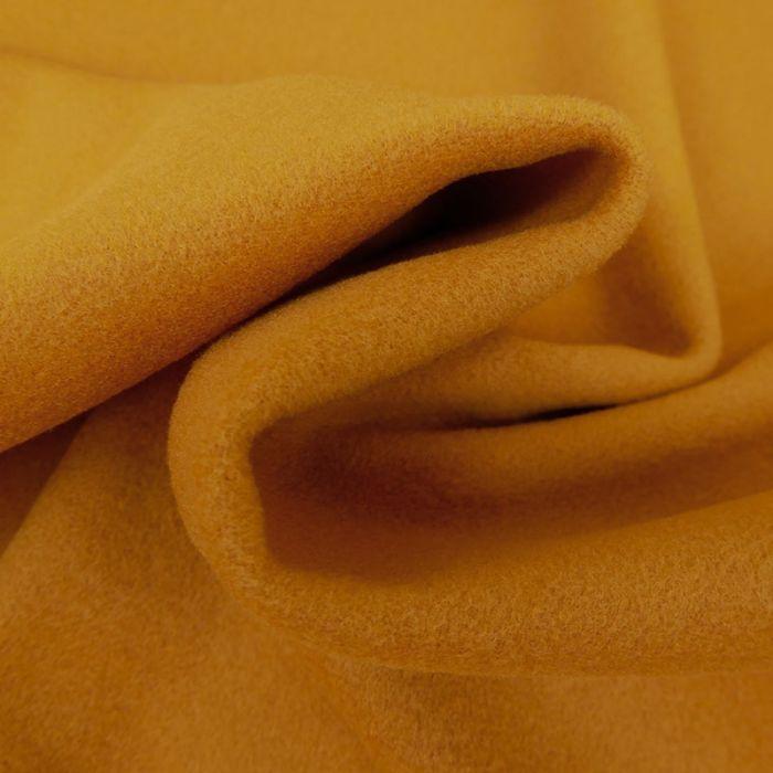 Tissu lainage cachemire - moutarde x 10 cm