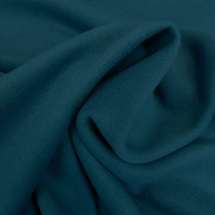 Tissu lainage cachemire - bleu canard x 10 cm