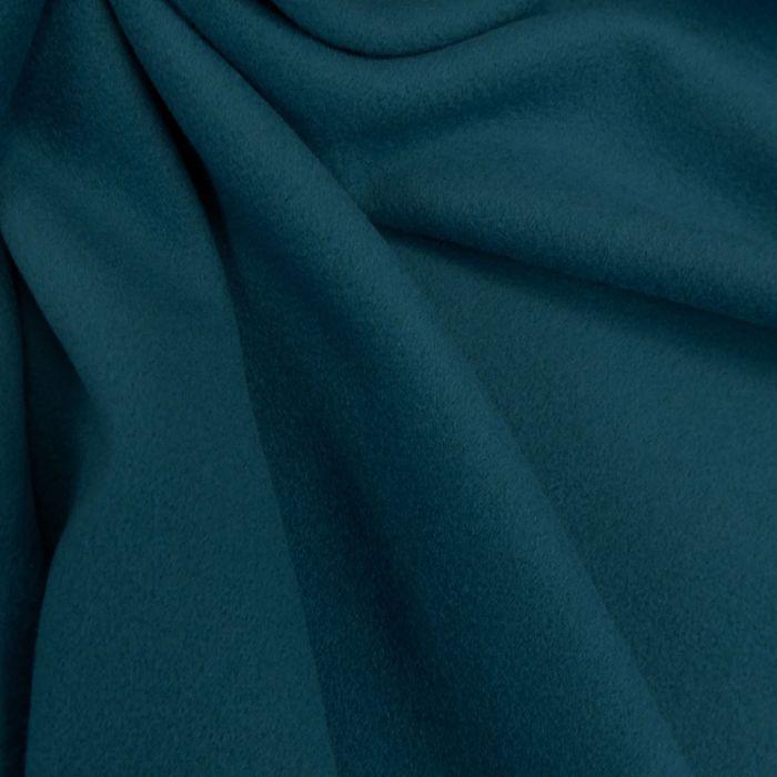 Tissu lainage cachemire - bleu x 10 cm
