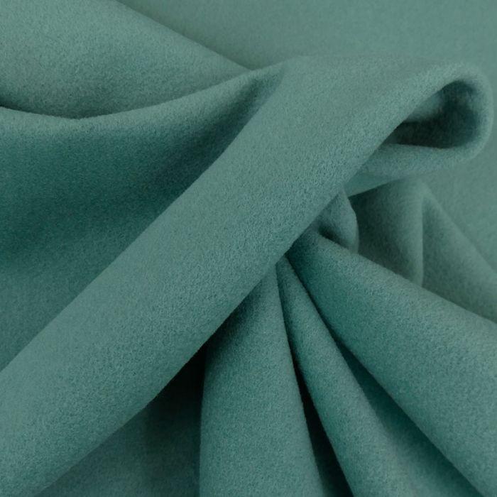 Tissu lainage cachemire - vert d'eau x 10 cm