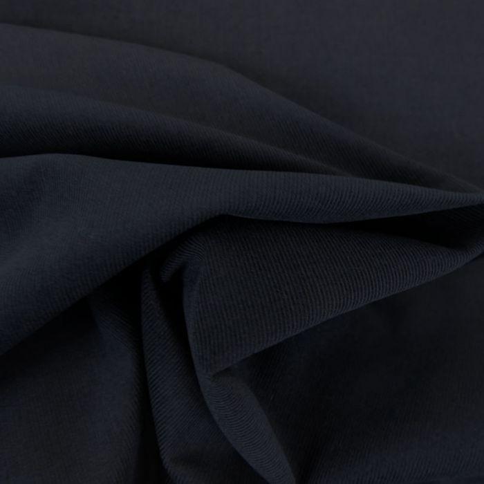 Tissu velours milleraies fin - bleu marine x 10 cm