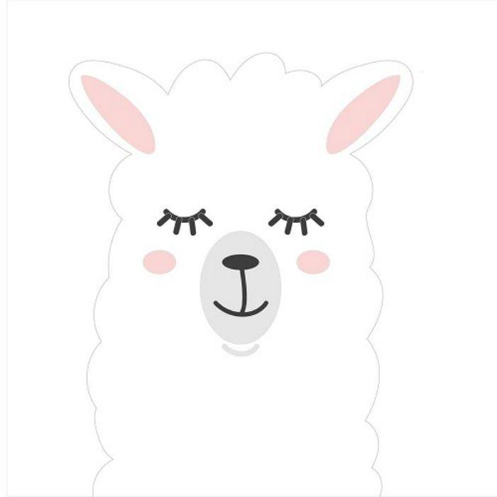 Transfert textile lama - blanc