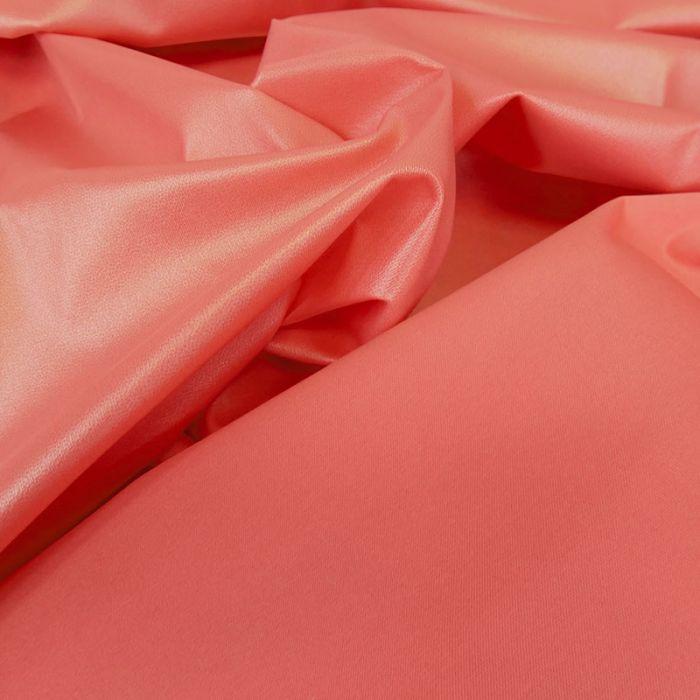 Tissu PUL imperméable stretch - rose corail x 10 cm