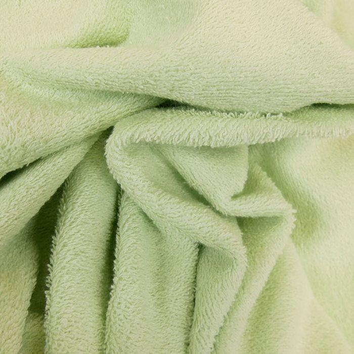 Tissu éponge vert clair x 10 cm