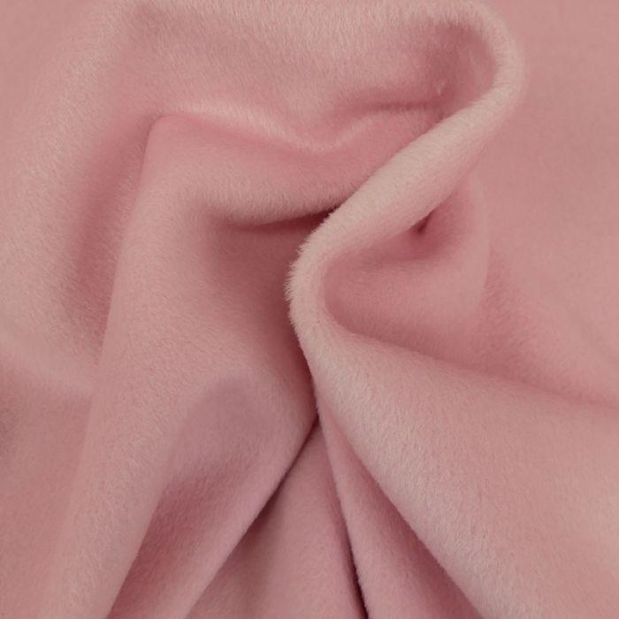 Tissu lainage cachemire tout doux - rose bonbon x 10 cm